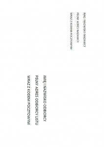Adresowanie kopert JPG
